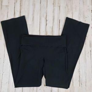 bp Womens Leggings Black Yoga Fold Over Waistband